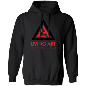 Black branded Living Art Brazilian Jiu Jitsu hoodie