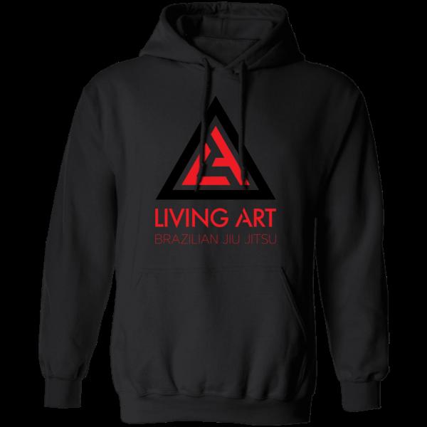 Black branded Living Art Brazilian Jiu Jitsu hoodie