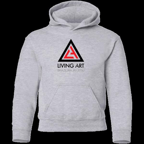 Grey branded Living Art Brazilian Jiu Jitsu Hoodie