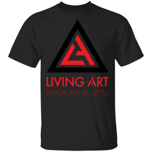 Black branded Living Art Brazilian Jiu Jitsu shirt