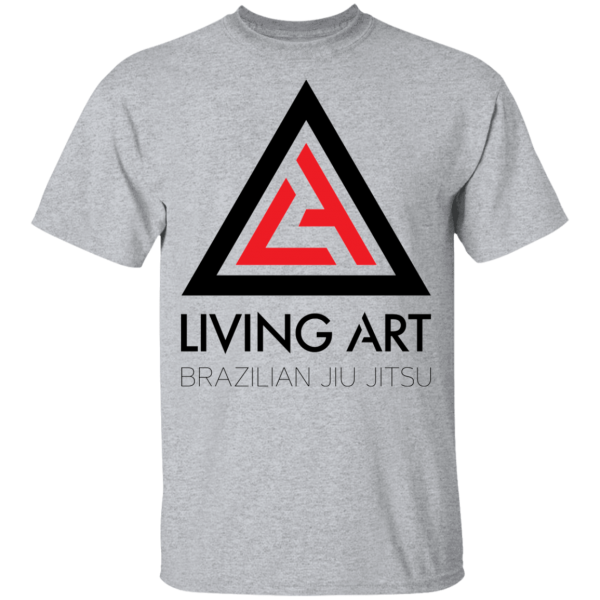 Grey branded Living Art Brazilian Jiu Jitsu shirt
