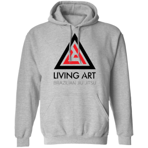 Grey branded Living Art Brazilian Jiu Jitsu hoodie