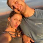 Man and woman smiling selfie